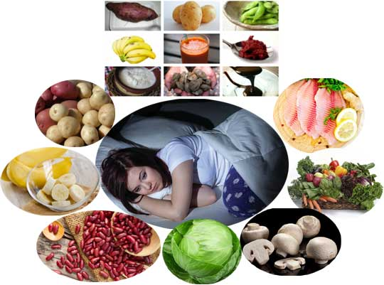 Deficiency of potassium leads to insomnia