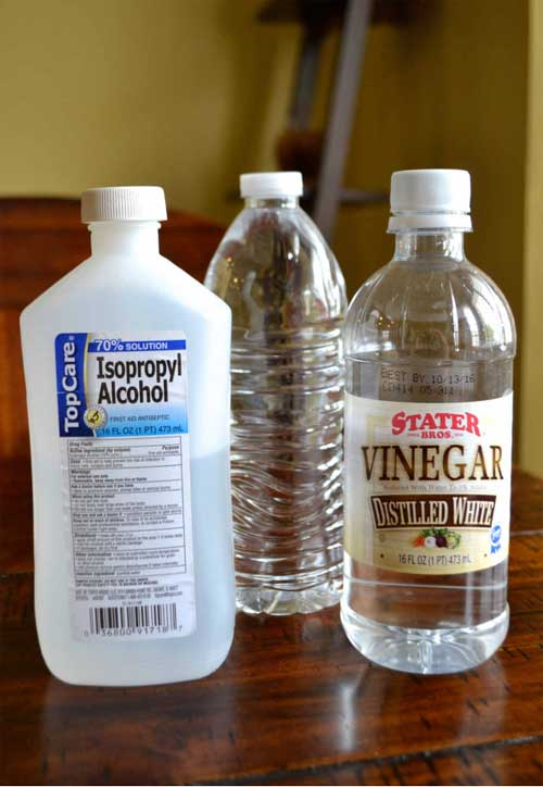 Alcohol and White vinegar