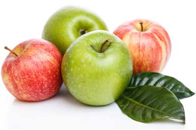 Apple reduces the belly fat and is rich in fiber