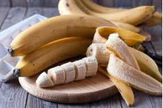 Banana provides high potassium to the body and cures hangover