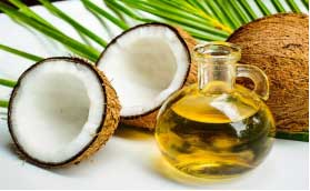 Coconut oil has cooling properties which soothes the chafed skin