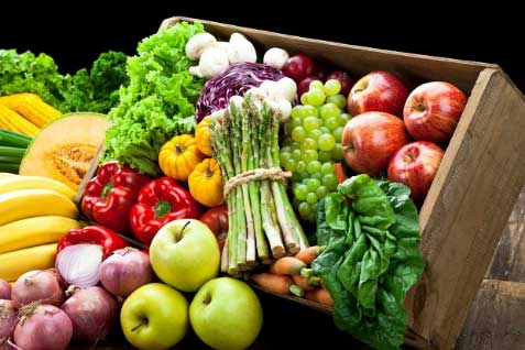 Control Over Weight With Green vegetables And Fruits