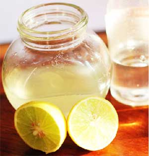 Glycerine, Rosewater, and lemon juice
