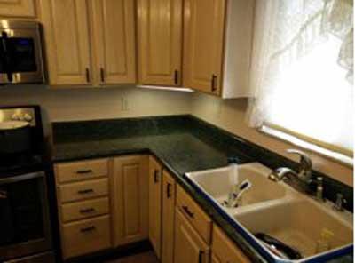 Kitchen countertops made up of granite