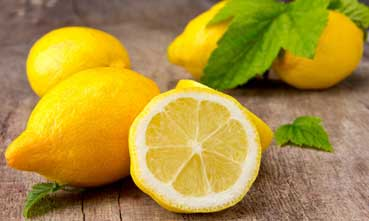 Lemon has citric acid which take away excess oil