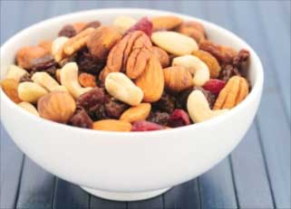 Nuts are high in fiber and healthy too