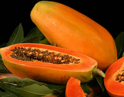 Papaya has papain which eliminates pain