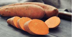 Sweet Potatoes are rich in beta carotene which is good for healthy eyes