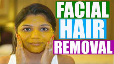 Turmeric removes facial hair