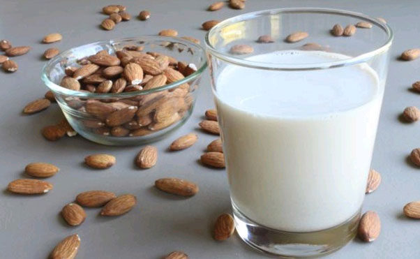Almond and  Milk treatment
