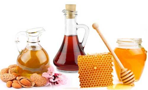 Almond Oil, Honey and Apple Cider Vinegar