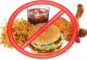 Avoid eating junk and processed foods