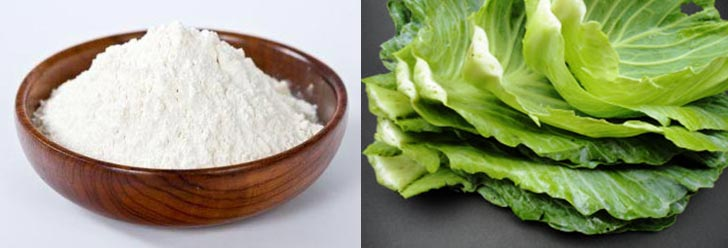 Cabbage and rice flour