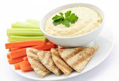 Carrot Sticks with Hummus