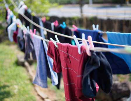 cloths Hang into dry