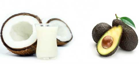 Coconut Milk, Jojoba Oil and Avocado