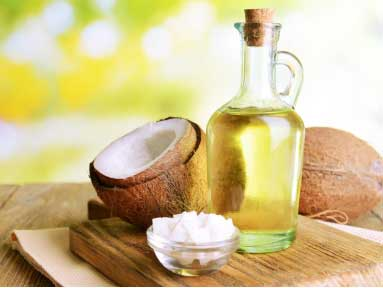 Coconut oil helps in reducing the inflammation and swelling