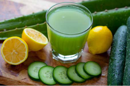 Cucumber and Lemon Juice