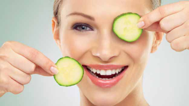 Cucumber Soothes the Skin