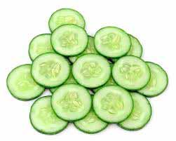 Cucumber to treat the prickly heat rash