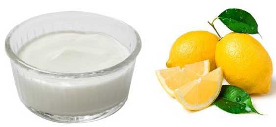 Curd and lemon for hair
