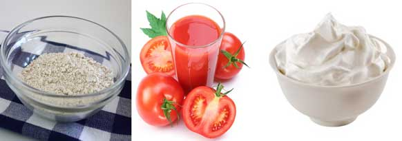 Curd Atmeal Powder Tomato Juice