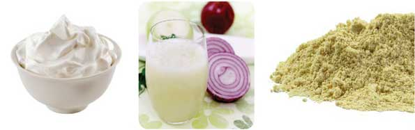 Curd Fenugree Seeds Powder Onion Juice Pack