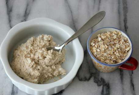 Curd With Oats Flour