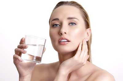 Drink lots of water to keep your skin hydrated