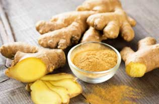 Ginger helps in treating white spots by flushing out toxins