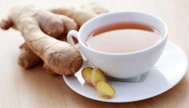 ginger tea to get rid of migraine