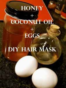 Honey coconut oil and egg white face pack