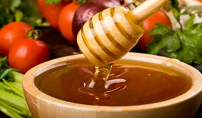 Honey has enzymes which brings glow to the skin