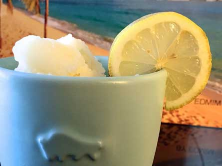 Ice Cream Lemon Juice Sugar Solution