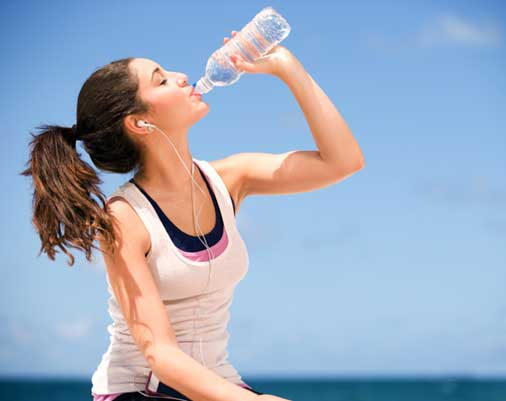 Keep yourself hydrated: Drink lots of water on a daily basis