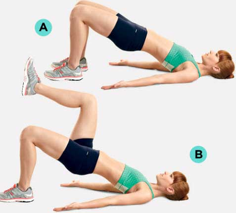 Bridge knee lift