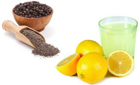 Lemon juice and Black Pepper