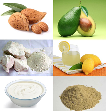 Oatmeal Cream Milk Multani Mitti Lemon Juice Avocado Almonds Face Pack