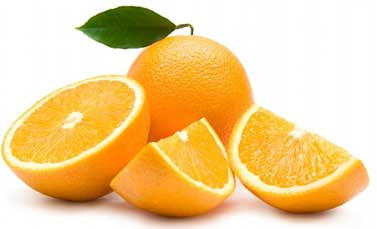 Orange has bleaching agents which brings glow to the skin