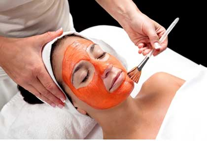 Orange peel pack helps in lightening blemishes