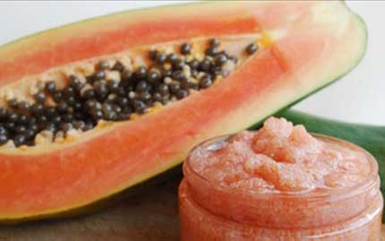 Papaya and Brown Sugar Scrub