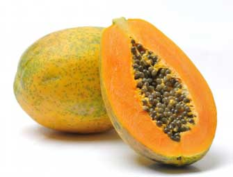 Papaya helps in lightening the dark skin