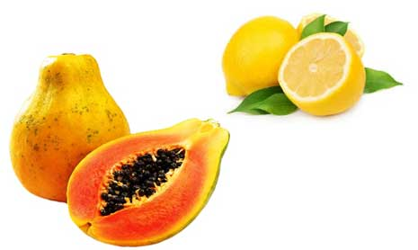 Papaya with Lemon