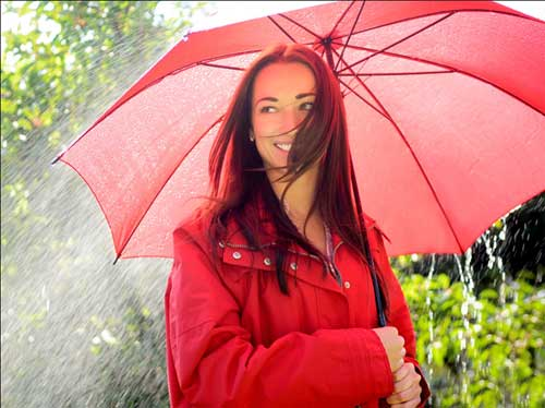 Protect your Hair from Getting wet in Rain Water