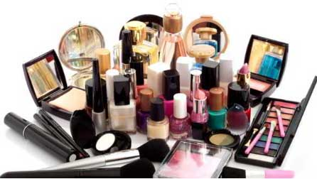 production of cosmetics