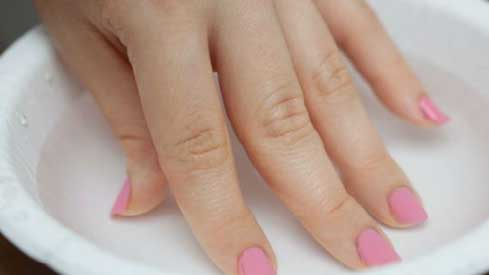 Remove Nail Polish with Warm Water