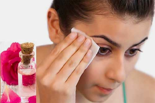 Rose water natural makeup remover