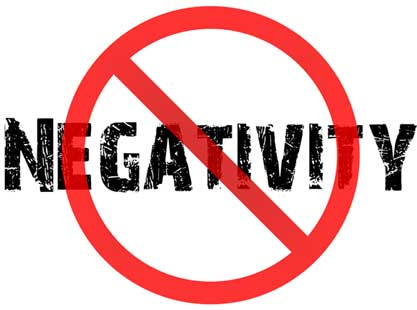 Say 'NO' to negativity: