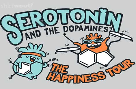 Ultimate Happiness-givers: Serotonin and Dopamine