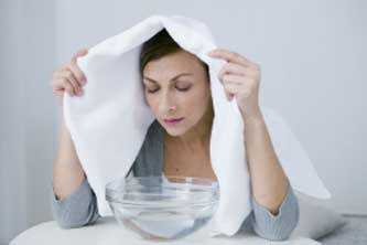 Steam fights off the throat pain and congestion